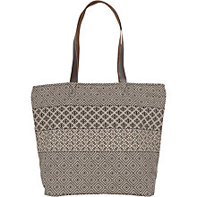 Buy Fat Face Dani Patchwork Shopper Bag, Black Online at johnlewis.com