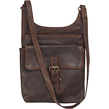 Buy Fat Face Harriet Oiled Leather Cross Body Bag, Chocolate Online at johnlewis.com