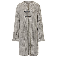 Buy Betty Barclay Chunky Knit Cardigan Poncho, Dark Grey Melange Online at johnlewis.com