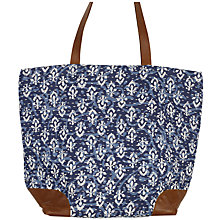 Buy Fat Face Indigo Kantha Shopper Bag, Indigo Online at johnlewis.com