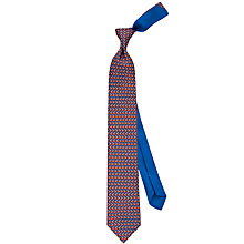 Buy Thomas Pink Jumping Fox Print Silk Tie Online at johnlewis.com