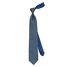 Buy Thomas Pink Kingfisher Print Silk Tie, Navy/Green Online at johnlewis.com