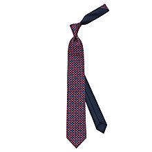 Buy Thomas Pink Fish Print Silk Tie, Navy/Pink Online at johnlewis.com