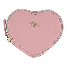 Buy Radley Blair Leather Medium Heart Purse, Pink Online at johnlewis.com