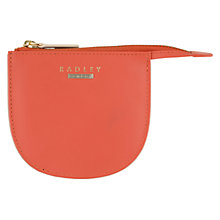 Buy Radley Felton Small Leather Coin Purse, Orange Online at johnlewis.com