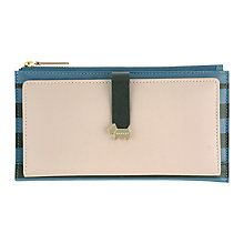 Buy Radley Hamilton Large Stripe Tab Leather Purse, Blue Online at johnlewis.com