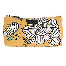 Buy Radley Floristics Small Cosmetics Bag, Yellow Online at johnlewis.com