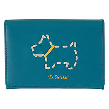 Buy Radley In Stitches Leather Card Holder, Blue Online at johnlewis.com
