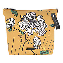 Buy Radley Floristics Large Cosmetics Bag, Yellow Online at johnlewis.com