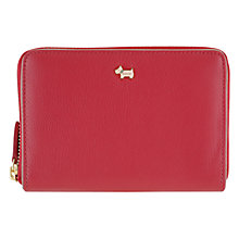 Buy Radley Blair Leather Medium Zip Around Leather Purse, Red Online at johnlewis.com