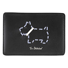 Buy Radley In Stitches Leather Card Holder, Black Online at johnlewis.com