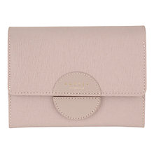 Buy Radley Elms Leather Small Flapover Purse, Grey Online at johnlewis.com