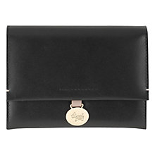 Buy Radley Exbury Leather Medium Flapover Purse, Black Online at johnlewis.com