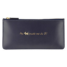 Buy Radley Excuses, Excuses! Leather Large Zip Pouch Purse, Navy Online at johnlewis.com