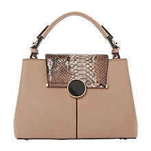 Buy Dune Dorrian Circular Lock Tote Bag, Taupe Online at johnlewis.com