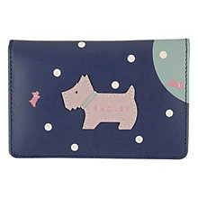 Buy Radley Over The Moon Leather Card Holder, Navy Online at johnlewis.com