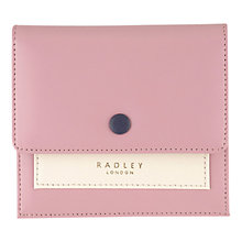 Buy Radley Hatton Leather Small Flapover Purse, Pink Online at johnlewis.com