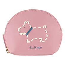 Buy Radley In Stitches Leather Small Coin Purse, Pink Online at johnlewis.com