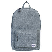 Buy Herschel Supply Co. Clas Raven Crosshatch Backpack, Grey Online at johnlewis.com