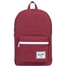 Buy Herschel Supply Co. Pop Quiz Backpack, Wine Online at johnlewis.com