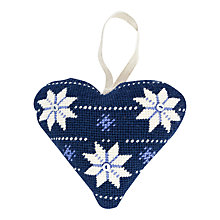 Buy Cleopatra's Needle Lavender Heart Tapestry Kit, Scandinavian Online at johnlewis.com