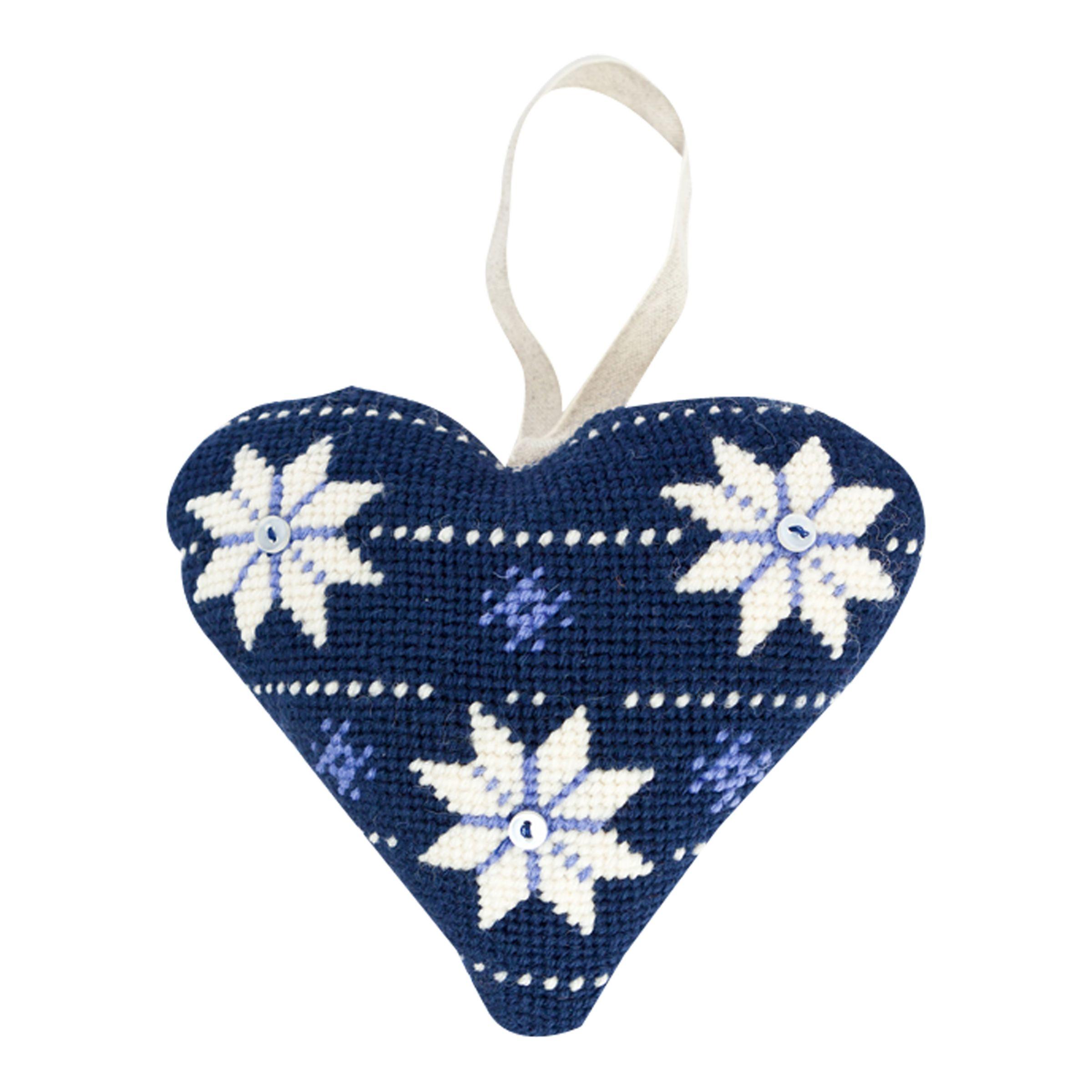 Cleopatra's Needle Cleopatra's Needle Lavender Heart Tapestry Kit, Scandinavian