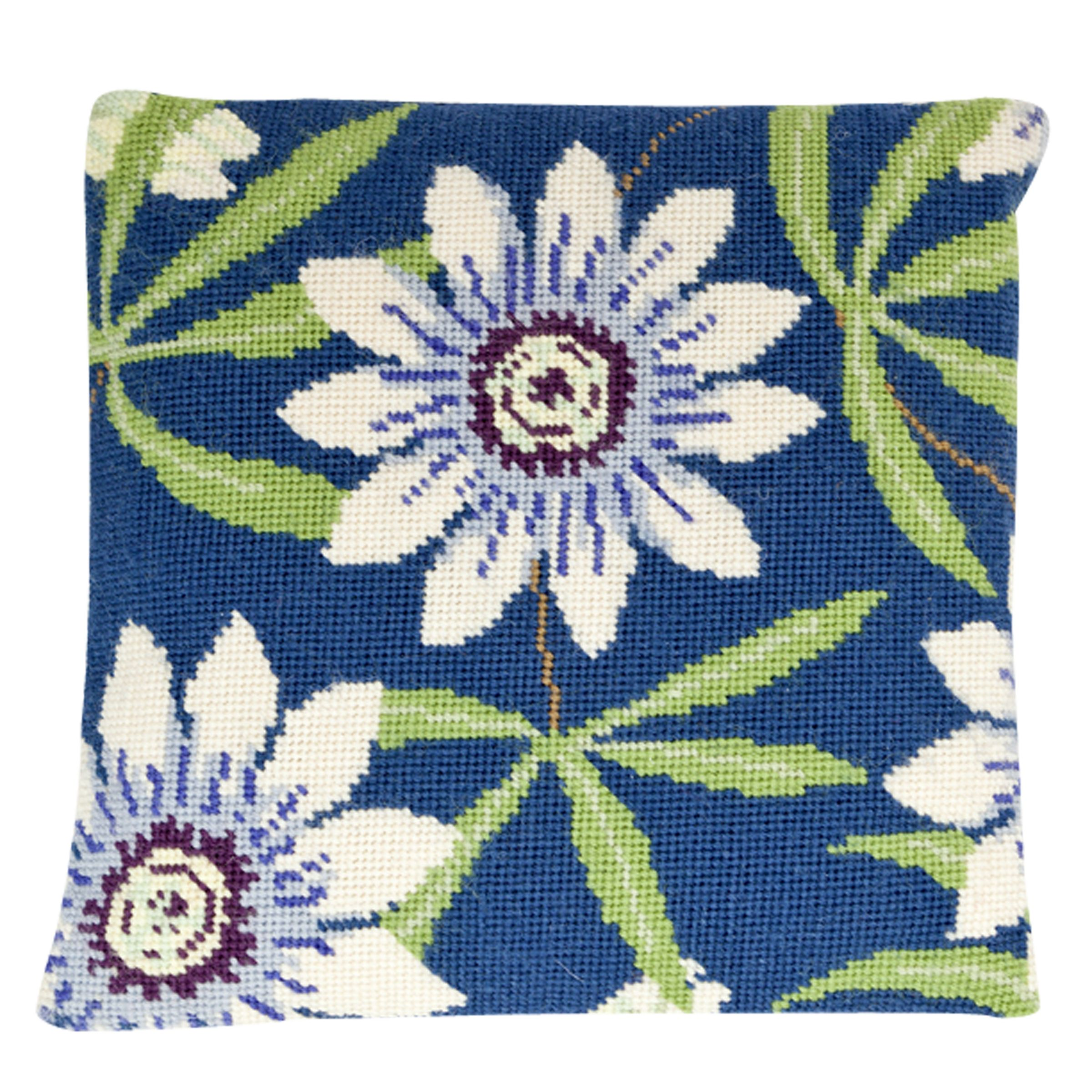 Cleopatra's Needle Cleopatra's Needle Passion Flower Herb Pillow Tapestry Kit, Multi