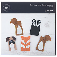 Buy John Lewis Buster the Boxer Sew Your Own Finger Puppets Kit Online at johnlewis.com