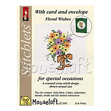 Buy Mouseloft Floral Wishes with Card and Envelope Cross Stitch Kit Online at johnlewis.com