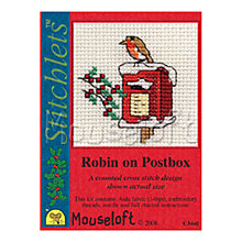 Buy Mouseloft Robin on Postbox Cross Stitch Kit Online at johnlewis.com