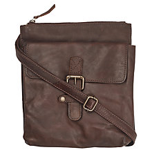Buy Fat Face Poppy Leather Across Body Bag, Chocolate Online at johnlewis.com