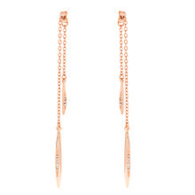 Buy Karen Millen Flow Drop Swarovski Crystal Earrings Online at johnlewis.com