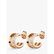 Buy Dyrberg/Kern Swarovski Crystal Hoop Earrings, Rose Gold Online at johnlewis.com
