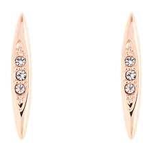 Buy Karen Millen Flow Drop Swarovski Crystal Stud Earrings Online at johnlewis.com