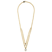 Buy Dyrberg/Kern Double Row Swarovski Crystals Necklace Online at johnlewis.com