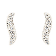 Buy Karen Millen Swarovski Crystal Pave Wave Earrings Online at johnlewis.com