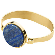 Buy Dyrberg/Kern Hinged Bangle, Gold/Blue Online at johnlewis.com