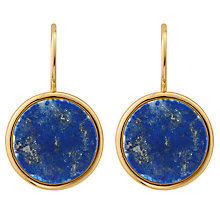 Buy Dyrberg/Kern Corkin Round Drop Earrings, Gold Online at johnlewis.com