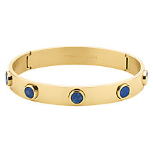Buy Dyrberg/Kern Hinge Stone Bangle, Gold/Blue Online at johnlewis.com