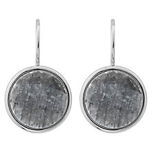 Buy Dyrberg/Kern Hook Round Drop Earrings, Silver/Grey Online at johnlewis.com