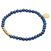 Buy Dyrberg/Kern Round Stone Bead Stretch Bracelet Online at johnlewis.com