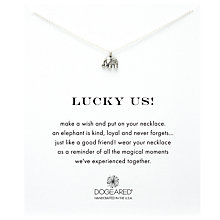 Buy Dogeared Lucky Elephant Pendant Necklace, Silver Online at johnlewis.com
