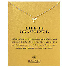 Buy Dogeared Life Is Beautiful Hummingbird Pendant Necklace, Gold Online at johnlewis.com