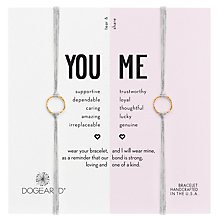 Buy Dogeared You Me Friendship Bracelet, Pack of 2, Grey/Gold Online at johnlewis.com