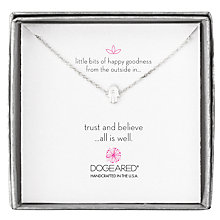 Buy Dogeared Mini Hamsa Little Bits of Happy Boxed Reminder Necklace, Silver Online at johnlewis.com