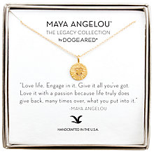 Buy Dogeared Maya Angelou Love Life Textured Heart Pendant Necklace, Gold Online at johnlewis.com