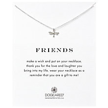 Buy Dogeared Friendship Dragonfly Pendant Necklace, Silver Online at johnlewis.com