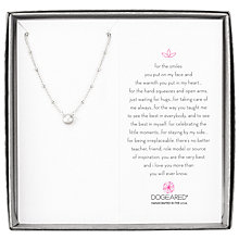 Buy Dogeared Pearls of Love Beaded Chain Necklace, Silver Online at johnlewis.com