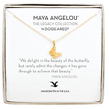 Buy Dogeared Maya Angelou Butterfly Pendant Necklace, Gold Online at johnlewis.com