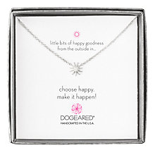 Buy Dogeared Mini Starburst Little Bits of Happy Boxed Reminder Necklace, Silver Online at johnlewis.com